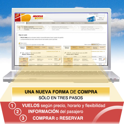 Iberia: A new form of buying in only 3 steps